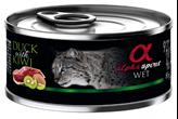Hrana za mačke ALPHA SPIRIT, patka/kivi, 0,085kg, za odrasle mačke