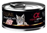 Hrana za mačke ALPHA SPIRIT, prepelica, 0,085kg, za sterilizirane mačke