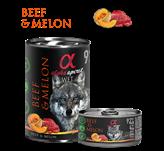 Pašteta za pse ALPHA SPIRIT Monoprotein, govedina/dinja, 0,4kg