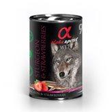 Pašteta za pse ALPHA SPIRIT Monoprotein, jesetra/jagoda, 0,4kg
