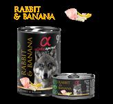 Pašteta za pse ALPHA SPIRIT Monoprotein, kunić/banana, 0,4kg