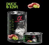 Pašteta za pse ALPHA SPIRIT Monoprotein, patka/kivi, 0,4kg