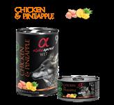 Pašteta za pse ALPHA SPIRIT Monoprotein, piletina/ananas, 0,4kg