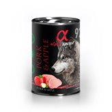 Pašteta za pse ALPHA SPIRIT Monoprotein, svinjetina/jabuka, 0,4kg