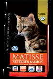 Hrana za mačke FARMINA Matisse Neutered Salmon, 0,4kg, za sterilizirane mačke