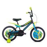 Dječji bicikl CAPRIOLO BMX Kid, kotači 16˝, crno/narančasti