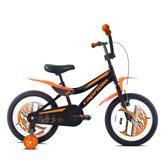 Dječji bicikl CAPRIOLO BMX Kid, kotači 16˝, sivo/zeleni
