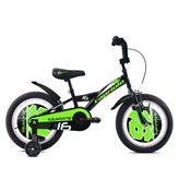 Dječji bicikl CAPRIOLO Mustang, kotači 16˝, crno/zeleni