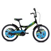 Dječji bicikl CAPRIOLO Mustang, kotači 20˝, crno/plavi