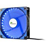Ventilator INTER-TECH Argus L-12025 BL LED Blue, 120mm, 1200 okr/min, crno/plavi