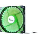 Ventilator INTER-TECH Argus L-12025 GR LED Green, 120mm, 1200 okr/min, crno/zeleni