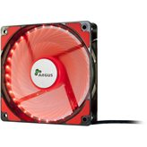 Ventilator INTER-TECH Argus L-12025 RD LED Red, 120mm, 1200 okr/min, crno/crvena