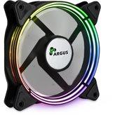 Ventilator INTER-TECH Argus Valo 1201 LED RGB, 120mm, 1200 okr/min, crno