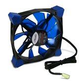 Ventilator INTER-TECH Nitrox N-120-B, 120mm, 1200 okr/min, crno/plavi