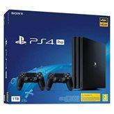 Igraća konzola SONY PlayStation 4 Pro, 1000GB, G Chassis, crna + Gamepad DualShock, crni