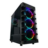Kućište LC POWER LC-709B-ON Solar_System_X, MIDI, ATX, window, crno, bez napajanja
