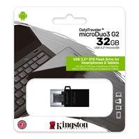 Memorija USB 3.2 FLASH DRIVE, 32 GB, KINGSTON DTDUO3G2/32GB, crni