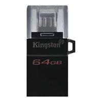 Memorija USB 3.2 FLASH DRIVE, 64 GB, KINGSTON DTDUO3G2/64GB, crni