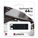 Memorija USB 3.2 Type-C FLASH DRIVE, 64 GB,  KINGSTON DT70/64GB, crni