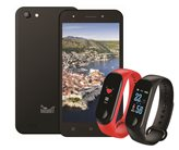 """Smartphone MEANIT C2, 5"""", 2GB, Android 7.0, crni + Narukvica MEANIT M8 Smartwatch"""