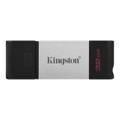 Memorija USB 3.2 Type-C FLASH DRIVE, 32 GB,  KINGSTON DT80/32GB, crno-sivi