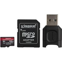 Memorijska kartica KINGSTON Micro SDXC Canvas React Plus, 128GB, MLPMR2/128GB, Class 10 UHS-II, USB i SD adapter