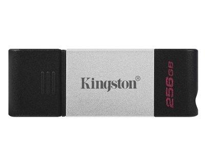 Memorija USB 3.2 Type-C FLASH DRIVE, 256 GB,  KINGSTON DT80/256GB, crno-sivi