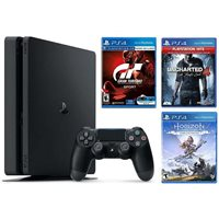 Igraća konzola SONY PlayStation 4, 1000GB, F Chassis, crna + GT Sport + Horizont Zero Dawn CE + Uncharted 4 Hits + The Last of Us 2 Standard Edition