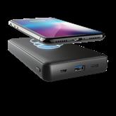 Mobilni USB punjač TRUST Primo, 20000 mAh, bežični, crni