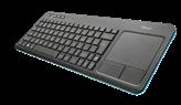 Tipkovnica TRUST Veza, UK layout, bežična, touchpad, za PC