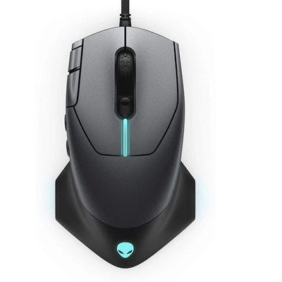Miš ALIENWARE AW510M, optički, 16000dpi, sivi, USB