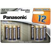 Baterije PANASONIC LR6EPS/12BW, Alkalne, AA, 6+6 kom