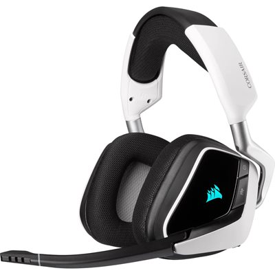 Slušalice CORSAIR Void RGB Elite Premium Gaming, 7.1, bežične, mikrofon, bijelo-crne
