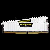Memorija PC-25600, 16 GB, CORSAIR CMK16GX4M2B3200C16W Vengeance LPX White, DDR4 3200Mhz, 2x8GB kit