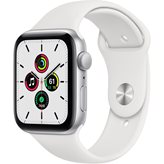 Pametni sat Apple Watch SE GPS, 44mm Silver Aluminium Case with White Sport Band - Regular - PREDNARUDŽBA