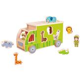 Drvena igračka CLASSIC WORLD Razvrstavanje oblika – kamion sa životinjama