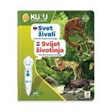 Interaktivna knjiga KUKU - Svijet životinja (knjiga bez interaktivne olovke)