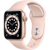 Pametni sat Apple Watch S6 GPS, 40mm Gold Aluminium Case with Pink Sand Sport Band - Regular
