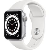 Pametni sat Apple Watch S6 GPS,  40mm Silver Aluminium Case with White Sport Band - Regular