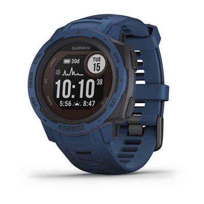 Sportski sat GARMIN Instinct SOLAR, GPS, HR, pametne obavijesti, plavi