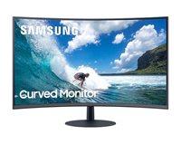"""Monitor 24"""" SAMSUNG LC24T550FDUXEN, 4ms, 250cd/m2, 3000:1, zakrivljen, crni"""