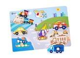 Drvena igračka CLASSIC WORLD Puzzle promet