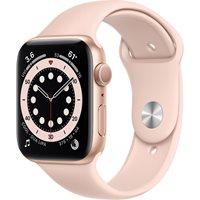 Pametni sat Apple Watch S6 GPS, 44mm Gold Aluminium Case with Pink Sand Sport Band - Regular