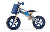 Dječji drveni bicikl bez pedala plavi Woodyland