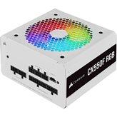 Napajanje 550W CORSAIR CX550F RGB CP-9020225-EU, RGB, ATX v2.4, 120mm vent., 80+ Bronze, modularno, bijelo