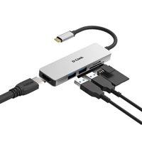 Docking station D-LINK DUB-M530, USB-C na 2x USB 3.1, HDMI, Card Reader, za notebook