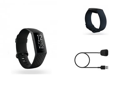 Narukvica FITBIT Charge 4 Black, HR, GPS, Fitbit pay + dodatni remen + dodatni kabel za punjenje