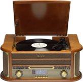 Gramofon DENVER MRD-51, Retro,  FM / AM / DAB radio, CD s MP3 podrškom, USB MP3 reprodukcija, drveni