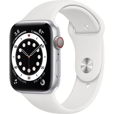 Pametni sat Apple Watch S6 GPS, 44mm Silver Aluminium Case with White Sport Band - Regular