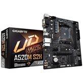 Matična ploča GIGABYTE A520M S2H, AMD A520, DDR4, mATX, s. AM4